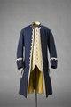 Livrérock blå (stalldräng), väst gul, livré (stalldräng) - Livrustkammaren - 86538.tif