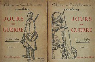 Abel Faivre - Image: Livre Abel Faivre Jours de Guerre I II