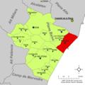 Localització de Borriana respecte de la Plana Baixa.png