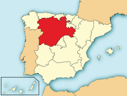 Map of Castile and León