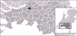 Location of Geertruidenberg in the Netherlands