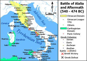 Battle of Alalia - Battle of Alalia and aftermath