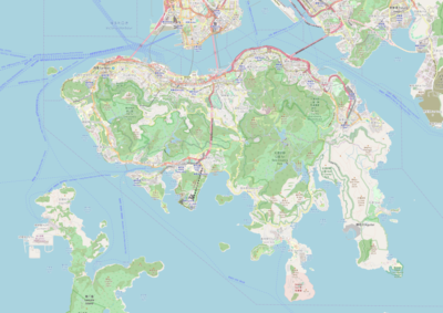 Location map Hong Kong Island