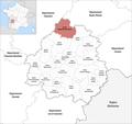 Locator map of Kanton Périgord Vert Nontronnais 2019.png