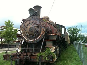 Rusty steam locomotive, Hattiesburg, Mississippi