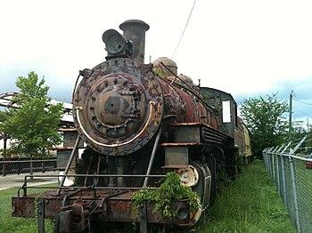 Rusty steam locomotive, Hattiesburg, Mississippi