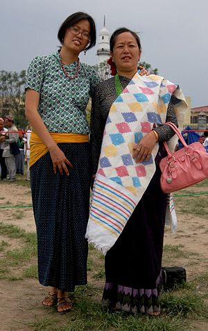 Lohorung people - Lohorung women in traditional costume at Kathmandu, Nepal