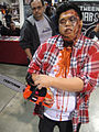 Long Beach Comic & Horror Con 2011 - redneck chainsaw zombie (seriously, he has a RED neck) (6301174055).jpg