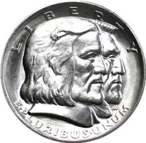 Long Island Tercentenary half dollar - Obverse