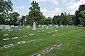 Looking NW across sec 100 - Green Lawn Cemetery.jpg
