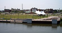 Lorain Ohio downtown Black River.JPG