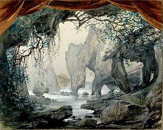 Loreley (opera) - Set for Act, 1, Scene 2, from the 1906 production at La Scala