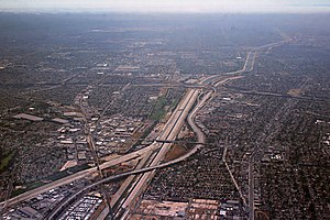 Interstate 710 - Aerial view of the I-105/I-710 interchange