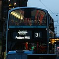 Lothian Buses bus route blinds for 31 to Polton Mill, 9 December 2014.jpg