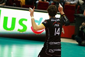 Aleksandar Atanasijević - During the match PGE Skra Bełchatów against Lotos Trefl Gdańsk at Ergo Arena.
