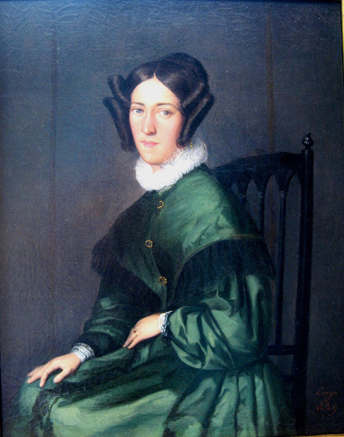 File Louis Anselme Longa La Femme A La Robe Verte 1839 Jpg Wikimedia Commons