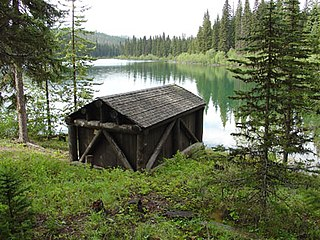 Lower Logging Lake Snowshoe Cabin and Boathouse United States historic place