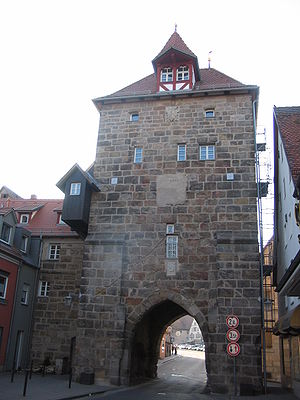 Altdorf bei Nürnberg - The lower gate (Unteres Tor) in 2005