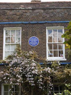 Photo of Lucien Pissarro blue plaque