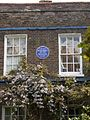 Lucien Pissarro's house Stamford Brook GLC blue plaque close up.JPG