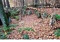 Luebeck-Blankensee Grosssteingrab Steinreihe N.JPG