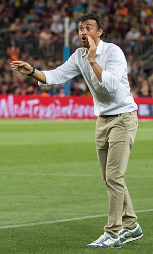 Luis Enrique (footballer) - Luis Enrique managing Barcelona in 2014