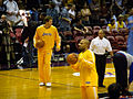 Luke Walton Derek Fisher warming up.jpg