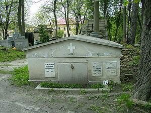 Władysław Abraham - Tomb of Wladyslaw Abraham at the Lyczakowski Cemetery in Lwow