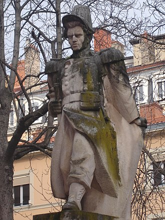 Place Sathonay - The statue of Blandan, on the square
