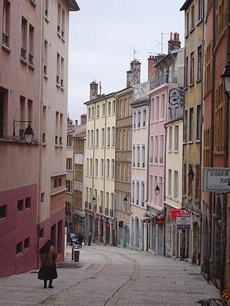 Montée de la Grande Côte - Image: Lyon gde côte bas 1