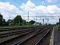 Lysá nad Labem, nádraží, zhlaví k Čelákovicím.jpg