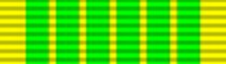 Ribbons of the French military and civil awards - Image: Médaille eaux forêts 2