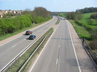 A414 road - Image: M10, from bridge. geograph.org.uk 1265