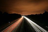 Az M3-as autópálya az angliai Basingstoke közelében
