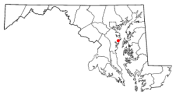 Location in Anne Arundel County,Maryland