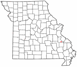 Knob Lick, Missouri - Image: MO Map doton Knob Lick