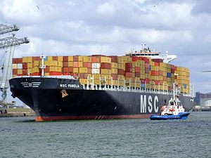 MSC Pamela p08, at the Amazone harbour, Port of Rotterdam, Holland 29-Jul-2007.jpg