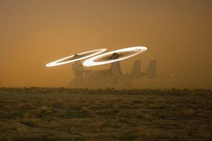 VMM-268 - A U.S. Marine Corps MV-22 Osprey assigned to Special Purpose Marine Air-Ground Task Force-Crisis Response-Central Command