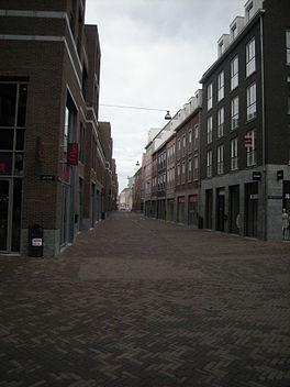 De Maasstraat, gezien vanuit het zuiden