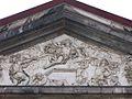Maastricht, Bonnefanten church, Christ rising from the grave, pediment relief (ca1700).jpg
