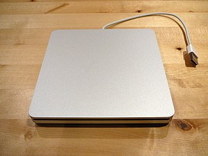 MacBook Air - The optional Apple USB 'SuperDrive' DVD-drive.