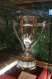 The MacNaughton Cup on display at the Minnesota State Fair in 2012.