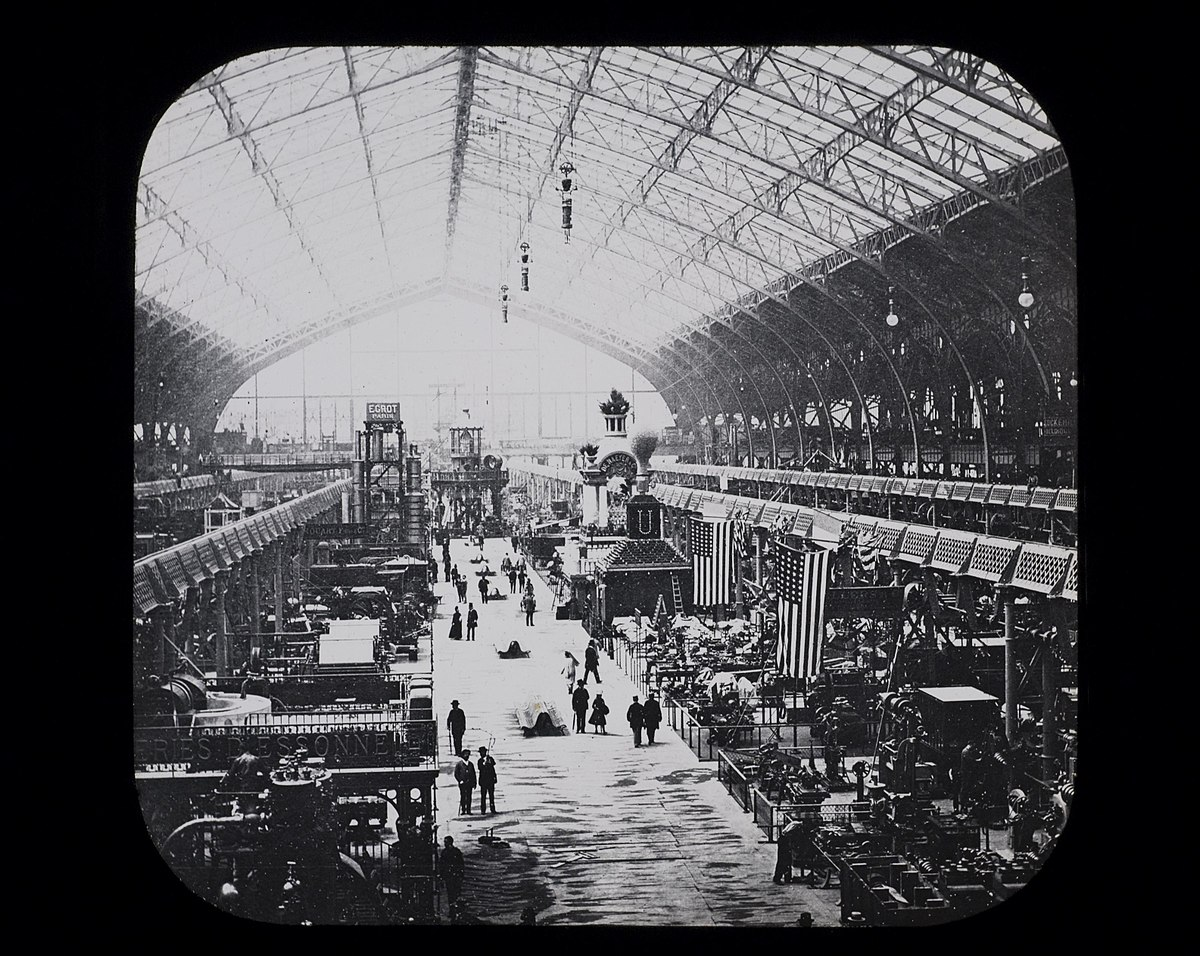 Machinery Hall, U.S. Section, Paris Exposition, 1889 (14382524544).jpg