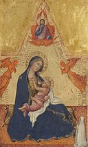 Madonna of Humility, The Blessing Christ, Two Angels, and a Donor (obverse) A16766.jpg