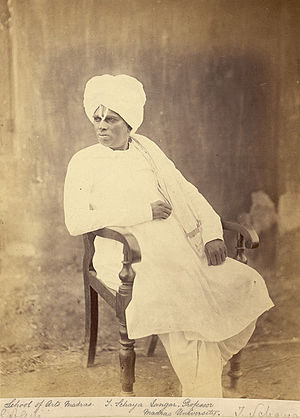 University of Madras - T. Schaya Iangar, a Madras University Professor, taken in the 1860s by a photographer from the Madras School of Industrial Arts