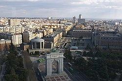 Madrid view from Faro de Moncloa