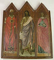 Maestro del polittico della cappella medici, san g. battista tra i santi zanobi e reparata, prima metà XIV sec..JPG