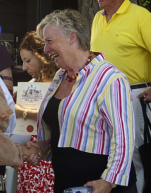 English: Maggie Beer at the Australia Day citi...