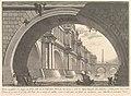 Magnificent bridge with loggias, and arches erected by a Roman Emperor . . . (Ponte magnfiico con Logge, ed Archi erretto da un Imperatore Romane . . .) MET DP827989.jpg