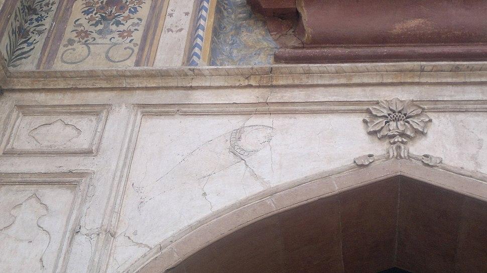 Mahi Maraatib fish emblazoned over the gateway to Safdarjung's tomb
